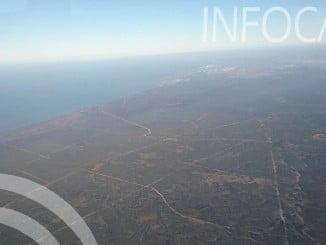 Así amanecía Doñana tras una noche de intenso trabajo por parte de los efectivos desplazados al incendio