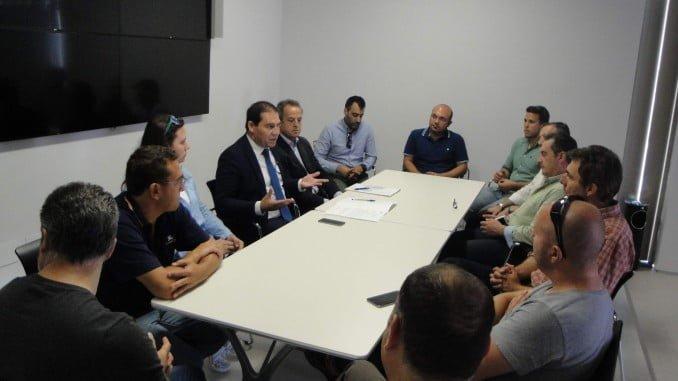 El vicepresidente y diputado de Huelva Empresa, José Luis Ramos, ha visitado los  Viveros de Empresas