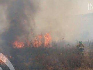 Imagen del incendio en Ayamonte