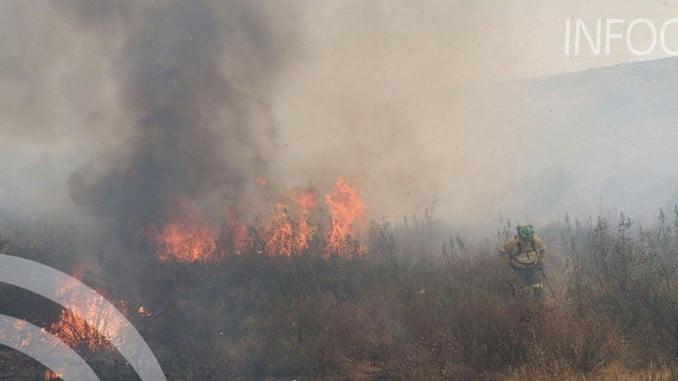 Imagen del incendio en Ayamonte, ya controlado por el Infoca