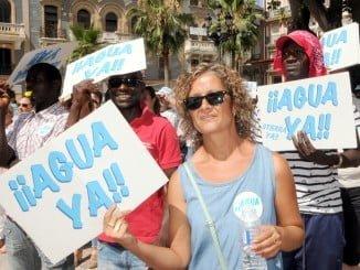 Última manifestación de los agricultores en la capital onubense reclamando agua para sus tierras