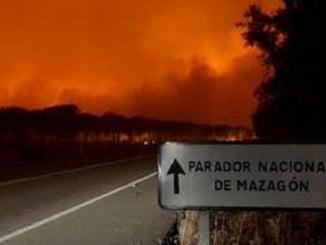 Vecinos de Mazagón se han unido para crear una plataforma tras el incendio de Moguer