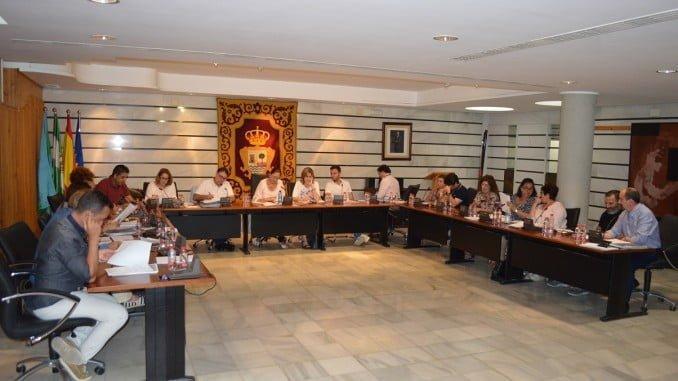 Sesión plenaria en el Ayuntamiento de Punta Umbría