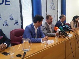 Rueda de prensa en la FOE para explicar la aportación al CCA de Ayamonte del consistorio ayamontino