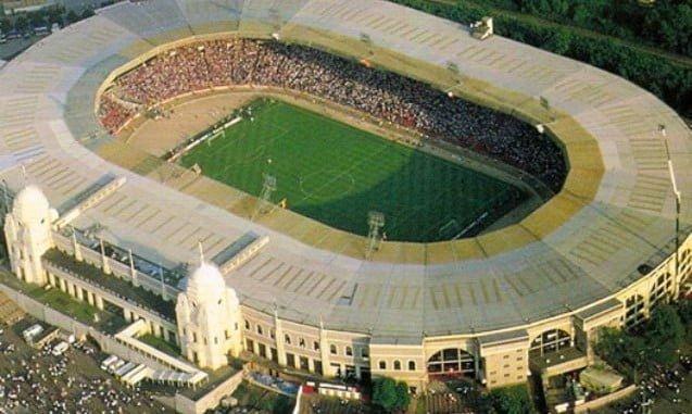 Vista aérea del viejo estadio de Wembley