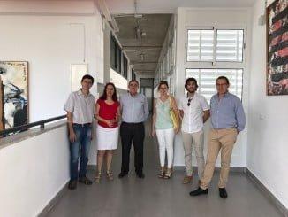 El delegado de Educación, Vicente Zarza, ha visitado el IES Nuevo Milenio de Zalamea