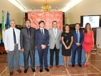 Toma de posesión de la Junta en Huelva del Colegio de Secretarios, Interventores y Tesoreros).