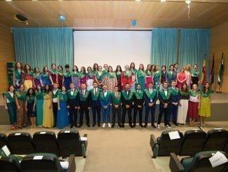 Acto de graduación que tuvo lugar en la Facultad de Ciencias del Trabajo.