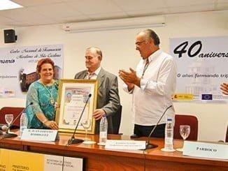 Juan Lozano Rodríguez homenajeado como 'Marinero del año' por la Cofradía de Pescadores.
