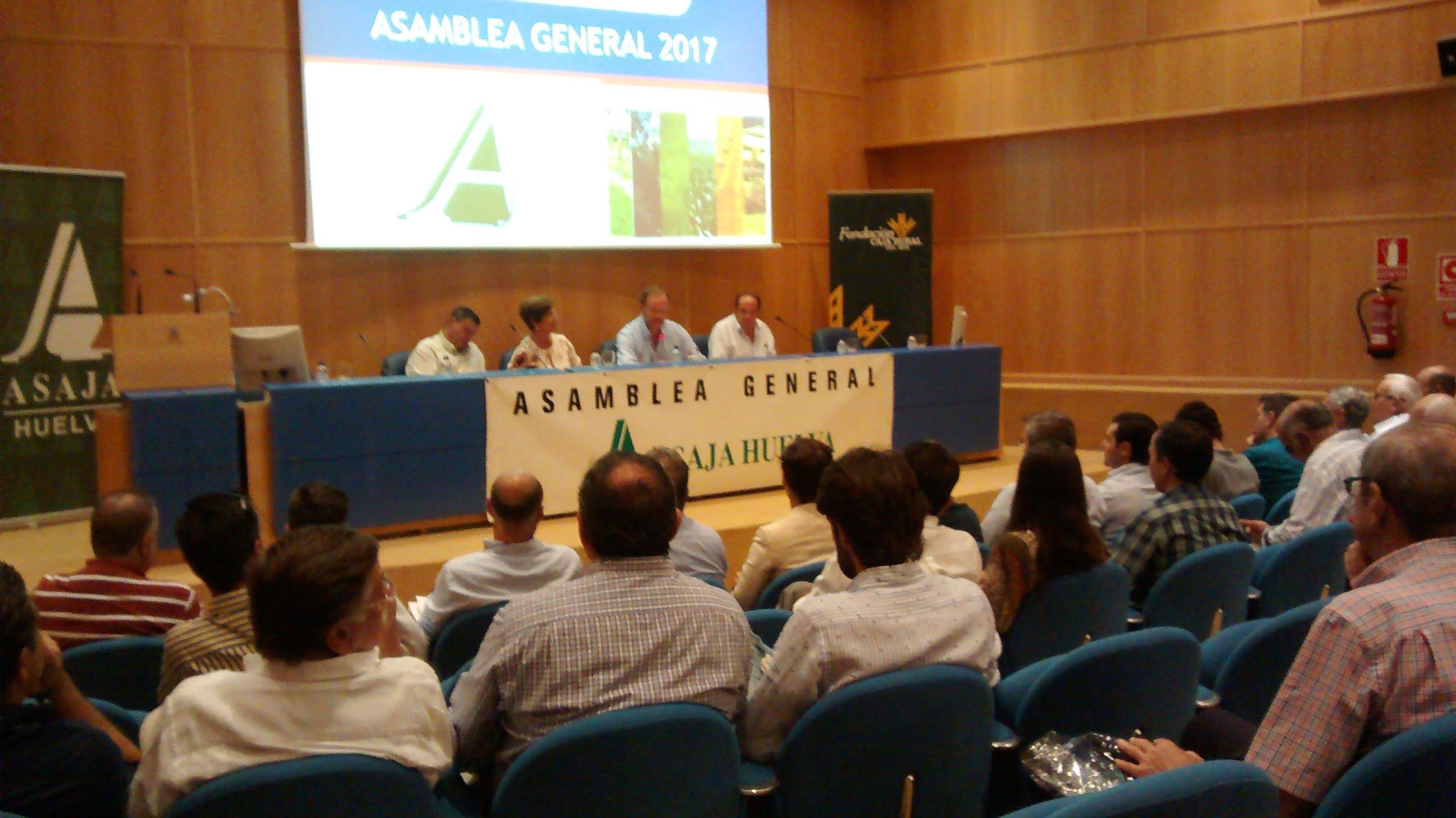 Momento de la asamblea de Asaja Huelva.