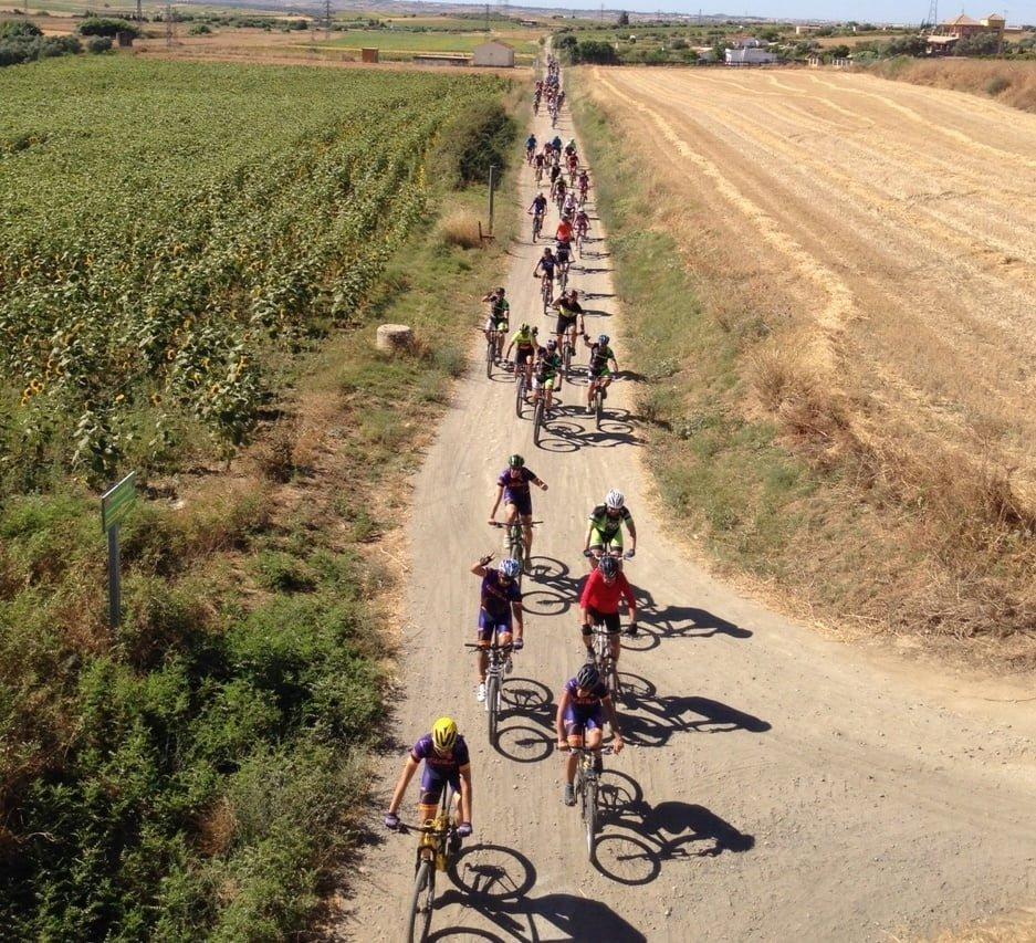 Discurrió por el trazado entre los municipios de San Juan del Puerto y Beas.