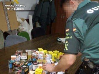 Mercancía de contrabando aprehendida por la Guardia Civil en Huelva