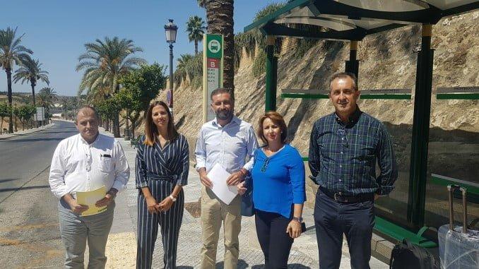 Alcalde de Moguer y corporación, satisfechos con la ampliación del servicio