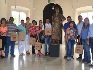 Los empresarios colombianos conocieron la DOP Jabugo y el Centro del Vino.