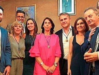 El nuevo equipo de gobierno del Ayuntamiento de Bollullos par del Condado.