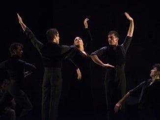 Un momento de la actuación del Ballet Flamenco de Andalucía
