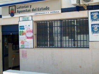 Administración de Loterías de Matalascañas donde se ha validado el boleto premiado