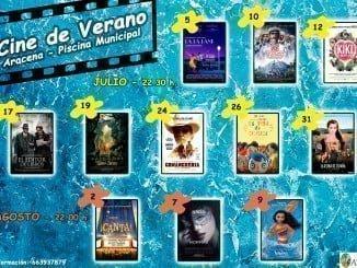 Cartel de la programación del cine de verano de Aracena