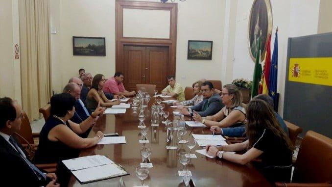 Reunión de la Comisión Reginal del Profea, presidida por Antonio Sanz