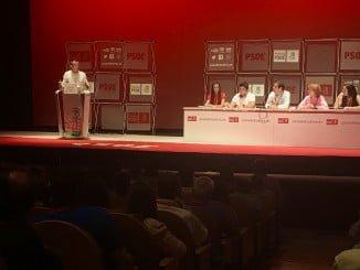Intervención de Caraballo en el Congreso Provincial Extraordinario de los socialistas onubenses