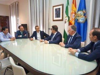 Reunión entre el consejero de Agricultura de la Junta y el presidente de la Diputación de Huelva