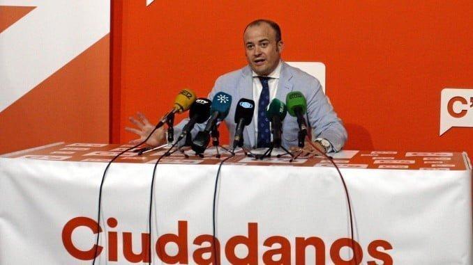El parlamentario de Ciudadanos y portavoz en la provincia de Huelva, Julio Díaz