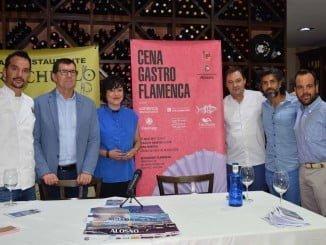 Acto de presentación del evento en el que Alosno fusionará gastronomía y flamenco