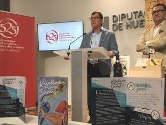 El alcalde de Villablanca y el diputado del Andévalo presentan el festival de danza