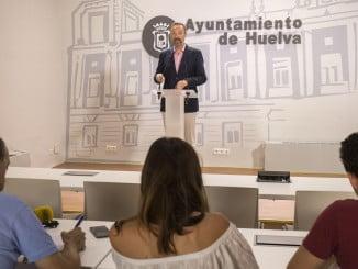 El portavoz del equipo de Gobierno en el Ayuntamiento de Huelva, Manuel Gómez Márquez