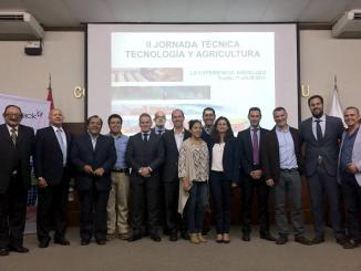 La delegación andaluza, en Perú