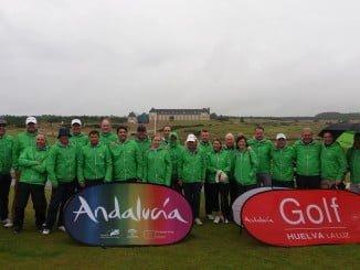 Representantes de los campos de golf de Huelva en Saint Andrews, Escocia