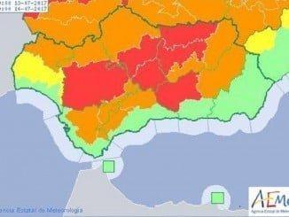 La Sierra permanecerá en alerta naranja este jueves y viernes
