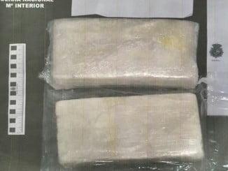 Los dos kilos de cocaína intervenidos por la Policía Nacional