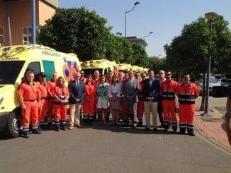 Personal del EPES visita las nuevas uvis móviles del 061
