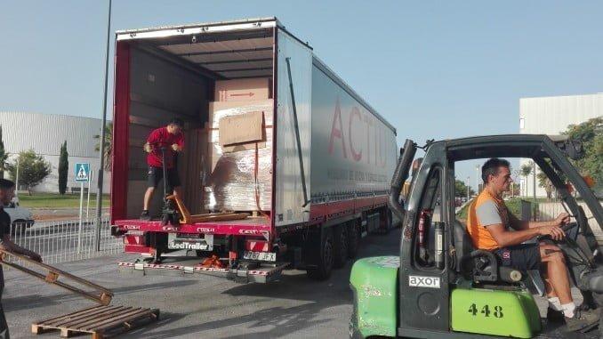 La descarga del equipamiento para la ETSI de la Universidad de Huelva ya se está realizando
