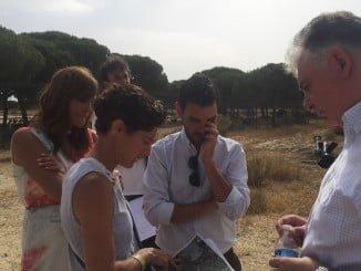Los delegados del Gobierno y de Medio Ambiente presencian en Cuesta Maneli las obras