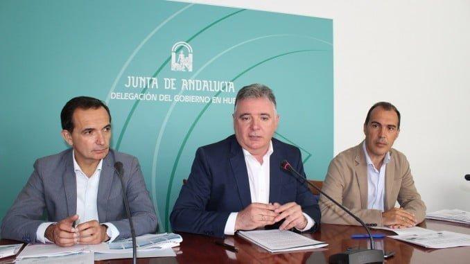 Los delegados del Gobierno y de Economía y el gerente de IDEA en Huelva presentan los incentivos