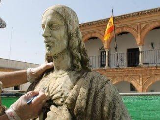 La escultura que se va a restaurar es obra de Carlos Monteverde