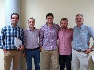 Miembros de la Comisión de Empresas del Sector Auxiliar de la Industria, presidida por Alberto Lage