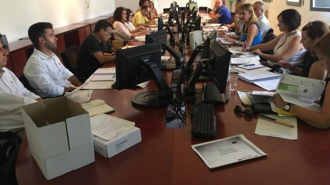 Reunión de los socios del proyecto del Bajo Guadiana