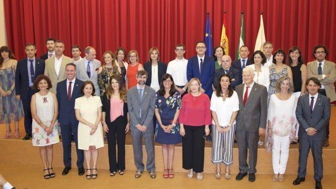 María Antonia Peña con su equipo de Gobierno
