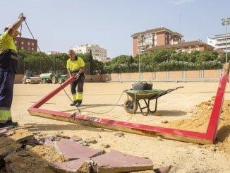 Las obras de remodelación del campo de fútbol de Los Rosales ya han comenzado