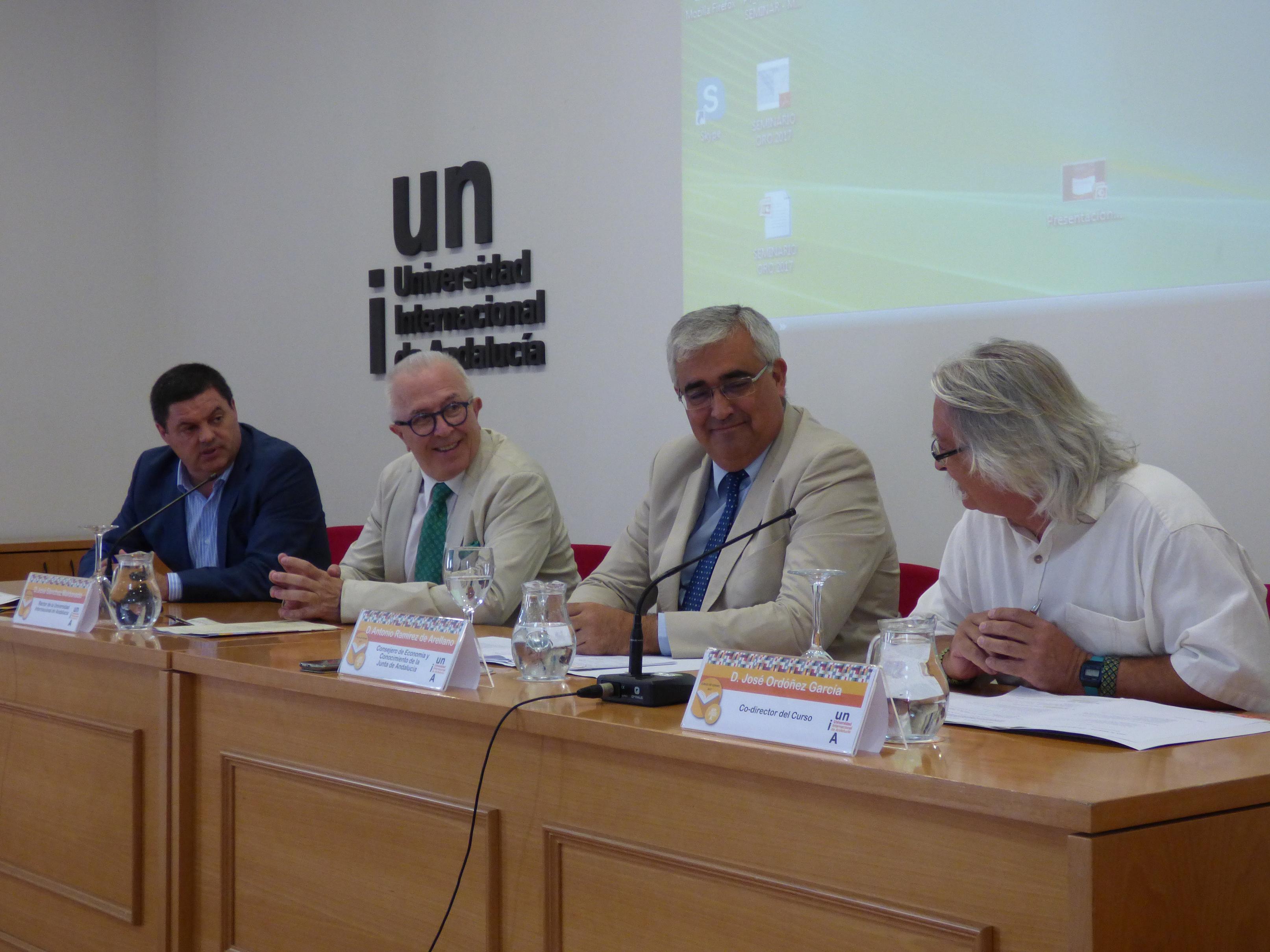 Antonio Ramírez de Arellano ha impartido una conferencia en el Campus de La Rábida