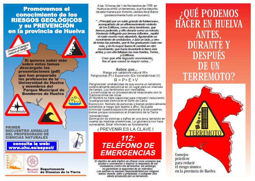 Recomendaciones para actuar ante un terremoto.