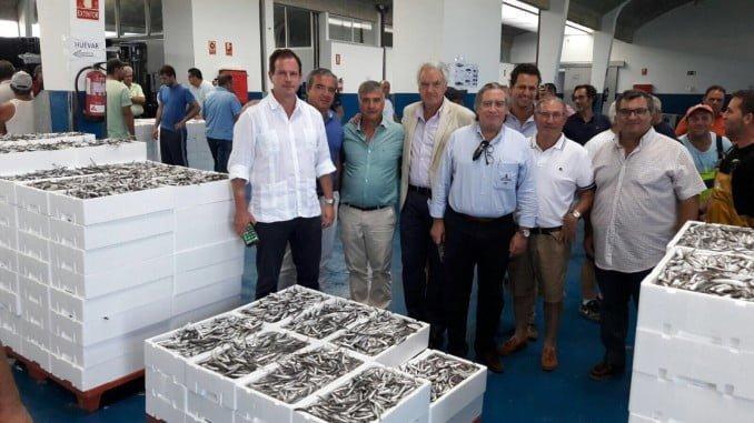 López-Asenjo durante su visita al Golfo de Cádiz, donde se ha entrevistado con representantes del sector pesquero de la zona
