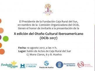 Invitación de la presentación de la próxima edición OCib