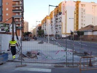 Obras que se realizan en la Avenida Federico Molina.