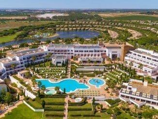 Vista aérea del Hotel Fuerte de El Rompido.