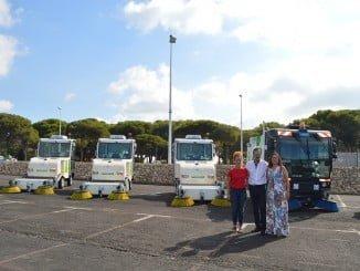 Cuando finaliza el verano el Ayuntamiento de Punta Umbría renueva la flota de limpieza.