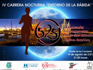 Cartel anunciador de de la IV Carrera Nocturna 'Entorno de La Rábida'